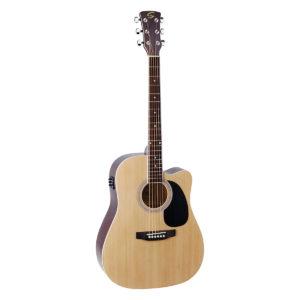 chitarra studio elettrificata natural